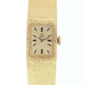 Vintage OMEGA 14K Solid Gold Mesh Ladies Swiss